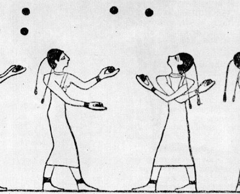 kvinnliga jonglörer Beni Hassan graven Egypten